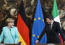 Matteo Renzi meets German Chancellor Angela Merkel