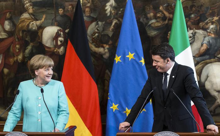 Matteo Renzi meets German Chancellor Angela Merkel