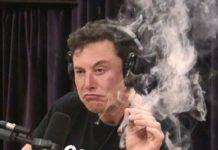 elon musk smoke